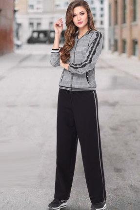 женский брючный костюм таиер, серый