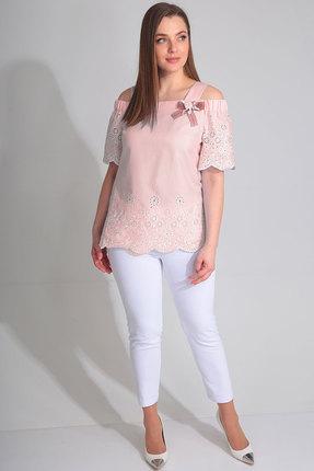 женский брючный костюм ladis line, розовый