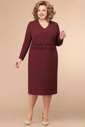 женское платье для офиса линия-л, бордовое