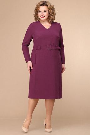 женское платье для офиса линия-л, фуксия