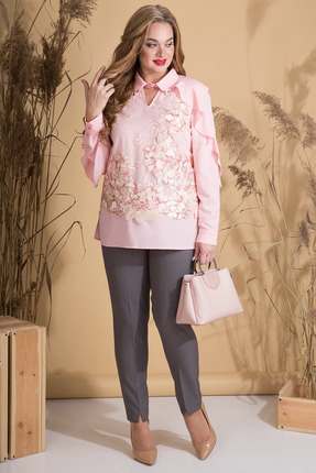 женский брючный костюм лилиана, розовый