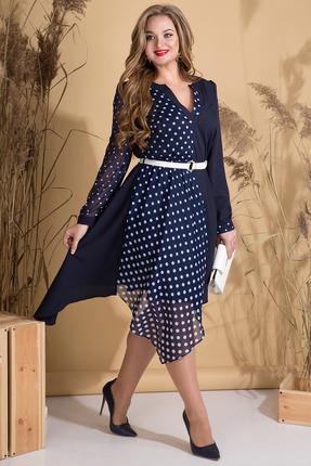 Платье Лилиана 804 темно-синий