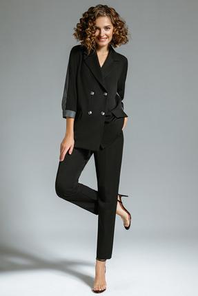 женский брючный костюм gizart, черный