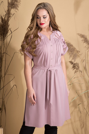 женская туника лилиана, розовая