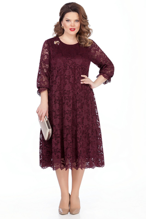 Платье TEZA 304 бордовые тона