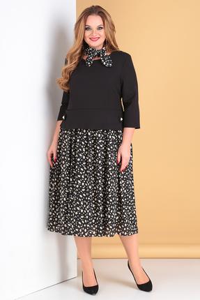 Платье Moda-Versal 2122 черный с розовым