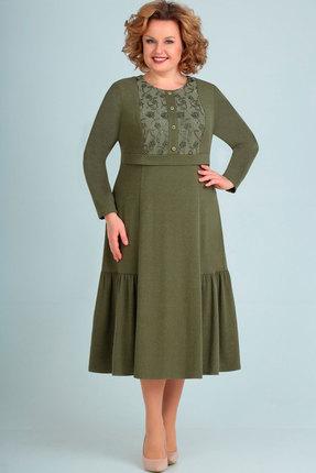 женское повседневные платье асолия, хаки