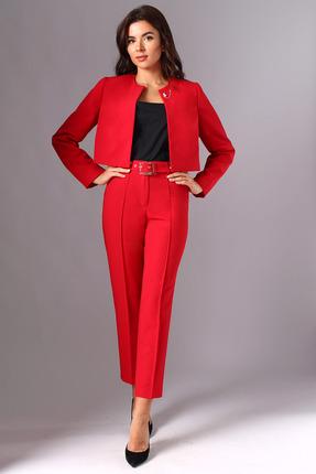 женский брючный костюм миа мода, красный
