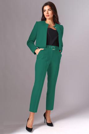 женский брючный костюм миа мода, зеленый
