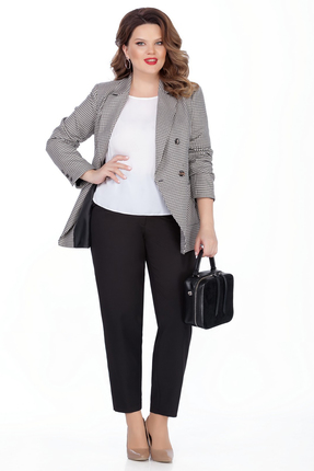 женский брючный костюм teza, серый