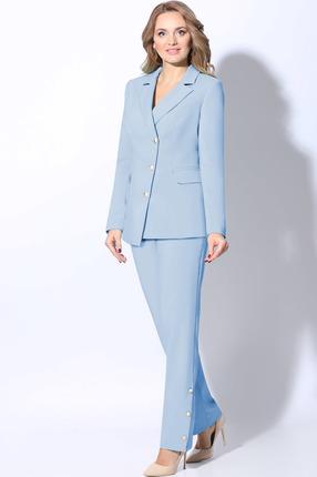 женский брючный костюм lenata, голубой