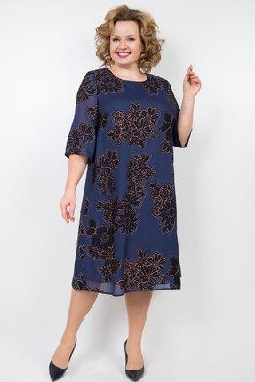 Платье TricoTex Style 01-20 синие тона
