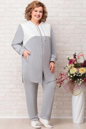женский брючный костюм aira style, серый