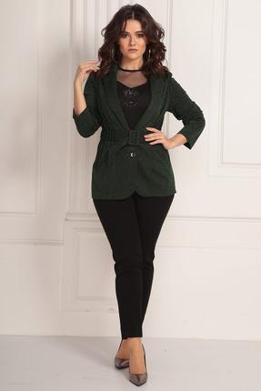 женский брючный костюм solomeya lux, зеленый