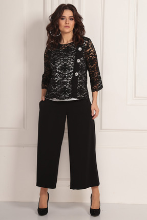 женский брючный костюм solomeya lux, черный