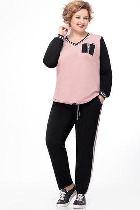 Спортивный костюм Bonna Image 500 чёрный+пудра