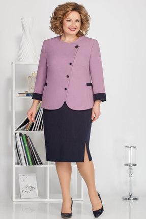 Комплект юбочный Ivelta plus 2489 сиреневый с синим