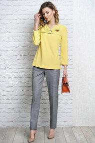 Комплект брючный Alani 1096 желтый с серым
