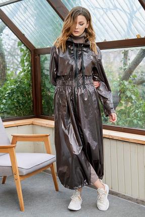 Плащ Фантазия Мод 3673 коричневые тона