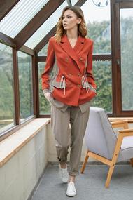 Комплект брючный Фантазия Мод 3650 оранжевые тона