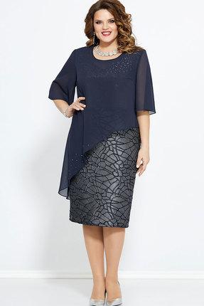 Платье Mira Fashion 4758 тёмно-синий