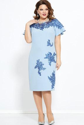 Платье Mira Fashion 4684 голубой