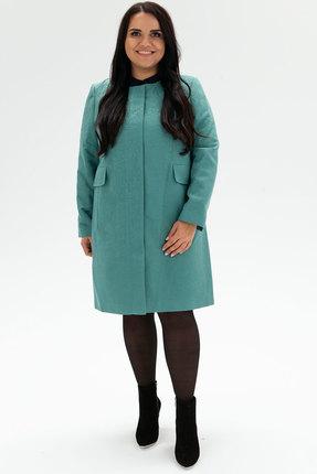 женское пальто bugalux, бирюзовое