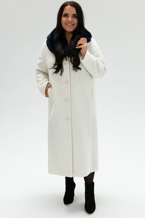 женское пальто bugalux, белое