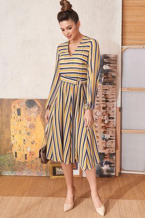 женское повседневные платье люше, разноцветное