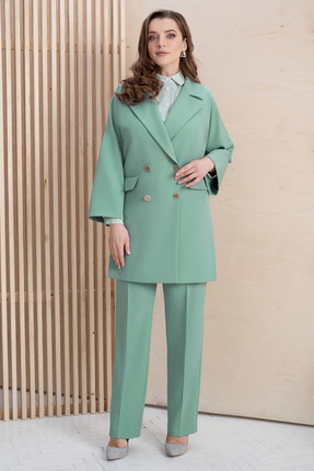 женский брючный костюм юрс, зеленый