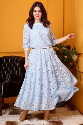 Платье Anastasia 383 голубой