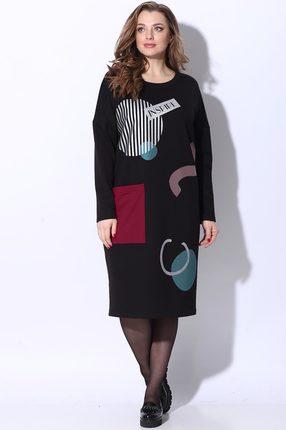 женское повседневные платье lenata, черное