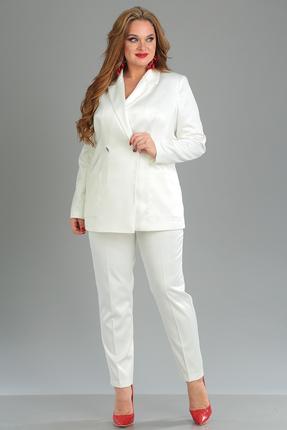 женский брючный костюм anastasia mak, молочный