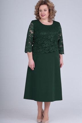 Платье Elga 01-651 зелёный