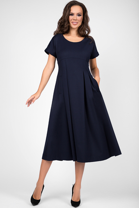 женское повседневные платье teffi style, синее