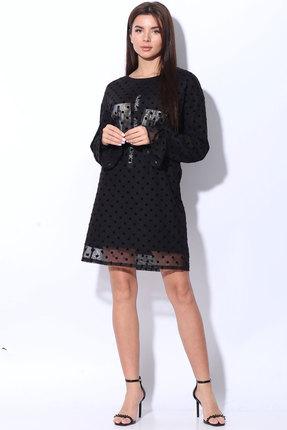 женское повседневные платье ladis line, черное