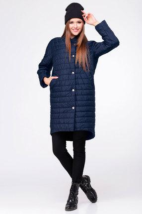 женское пальто ladis line, синее