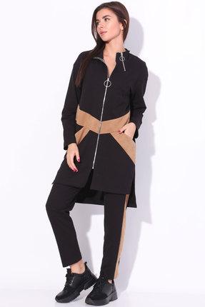 женский спортивный костюм ladis line, черный
