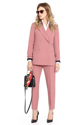 женский брючный костюм pirs, розовый