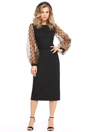 Платье PIRS 924 черный с бежевым