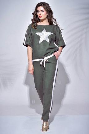 женский брючный костюм faufilure, хаки