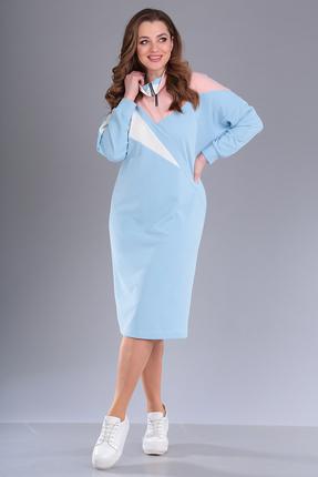 женское повседневные платье anastasia mak, голубое