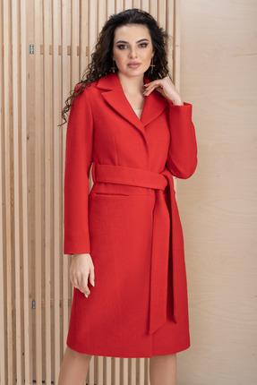 женское пальто юрс, красное