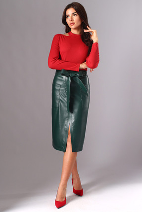 Комплект юбочный Миа Мода 1120 красный с зеленым