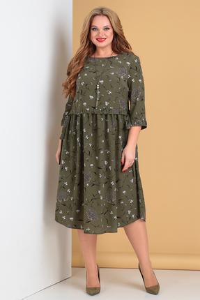 женское повседневные платье moda-versal, оливковое
