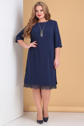 женское вечерние платье moda-versal, синее