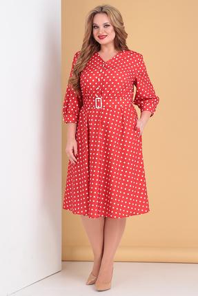 женское вечерние платье moda-versal, красное