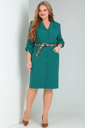 женское повседневные платье danaida, зеленое