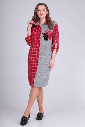 женское повседневные платье anastasia mak, красное