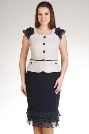Комплект юбочный Lady Style Classic 347 чернильный с белым